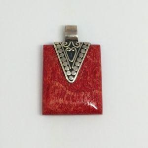 Sponge Coral Sterling Silver Pendant